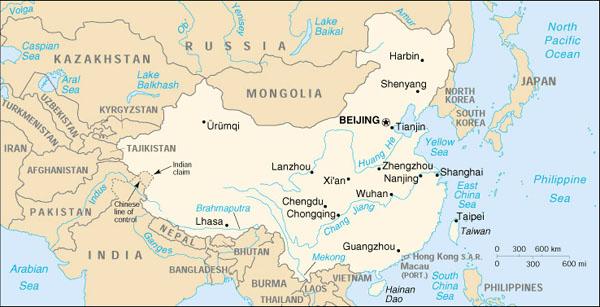 Chang jiang river world map
